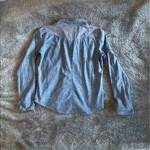 American Eagle Outfitters Tops - AEO lace denim button down
